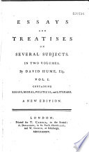 essays and treatises on several subjects The text is based on the first (1758) edition of hume's essays and treatises on several subjects notes advise the reader of the changes made in the final (1777) edition notes advise the reader of the changes made in the final (1777) edition.
